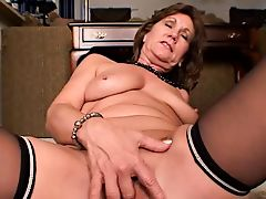 53 Year Old MILF Masturbating... IT4